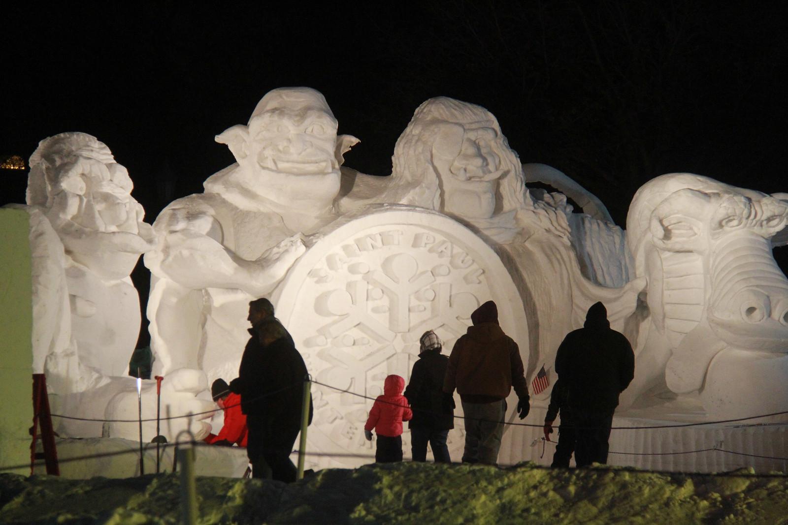 Snow Park - Snow Image with people