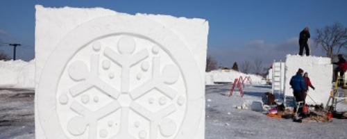 Snow Park at the Fair Amateur Snow Sculpting Contest