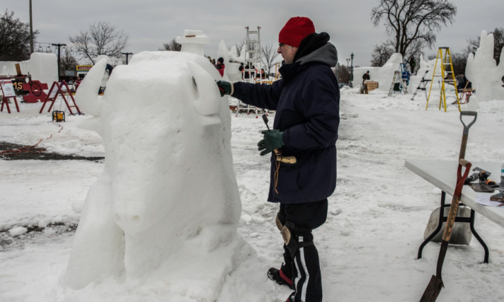 Amateur Snow Sculpting Contest