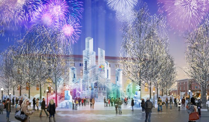 Ice Palace Lighting Ceremony Saint Paul Winter Carnival