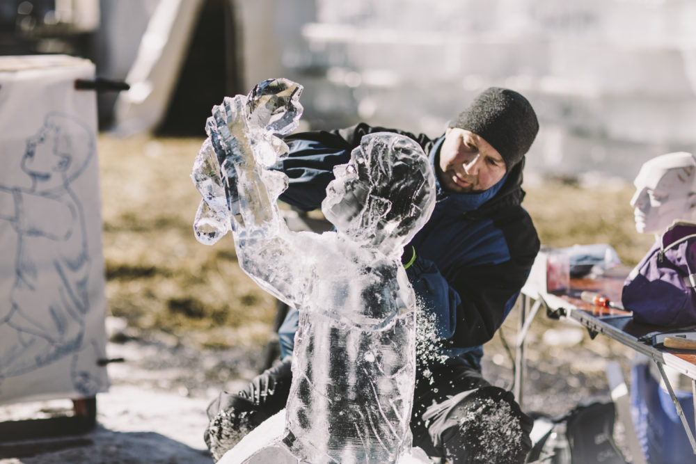 individual block ice carving competition saint paul winter carnival