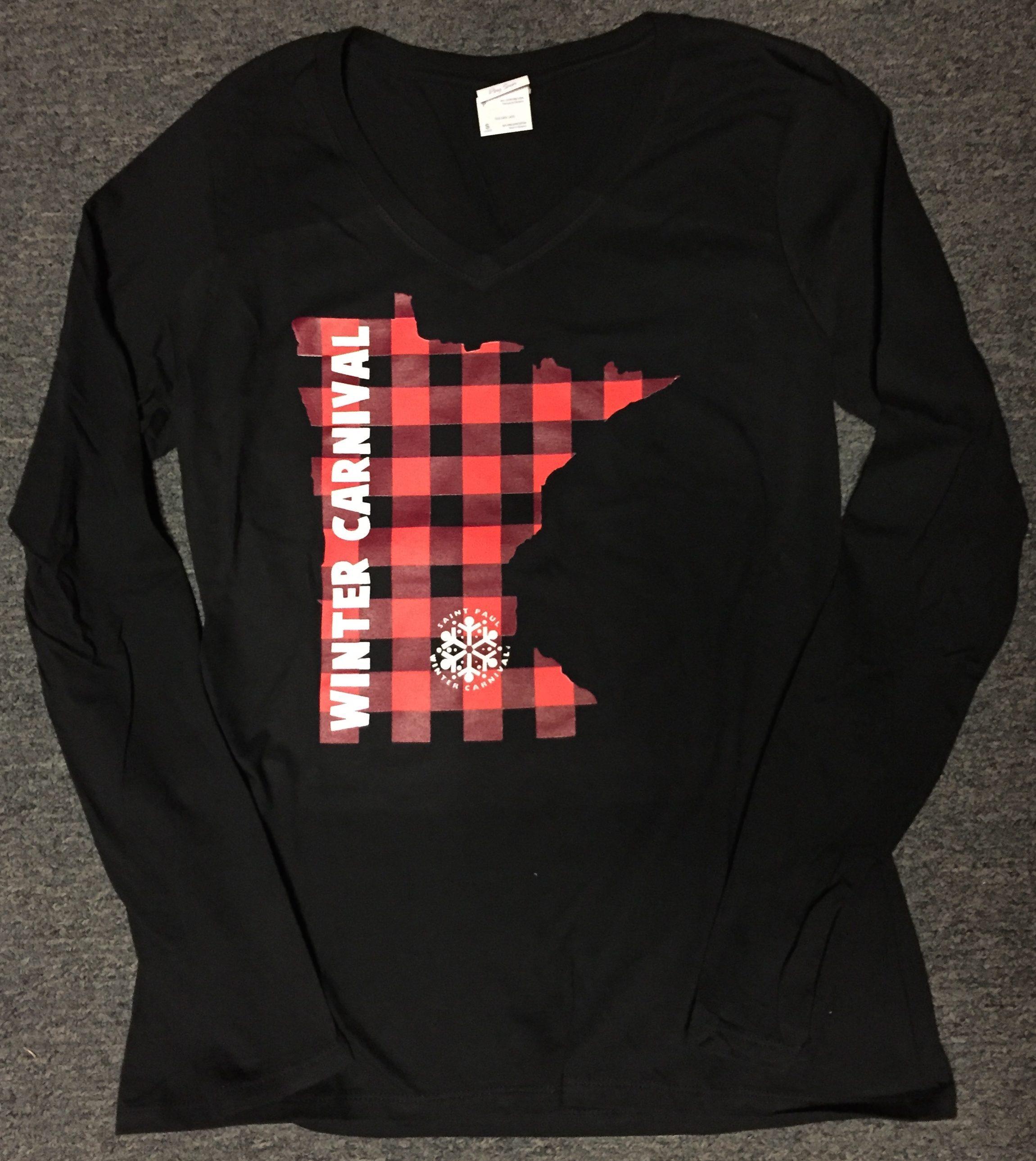 Black Red Checkered Mn State Shirt Saint Paul Winter