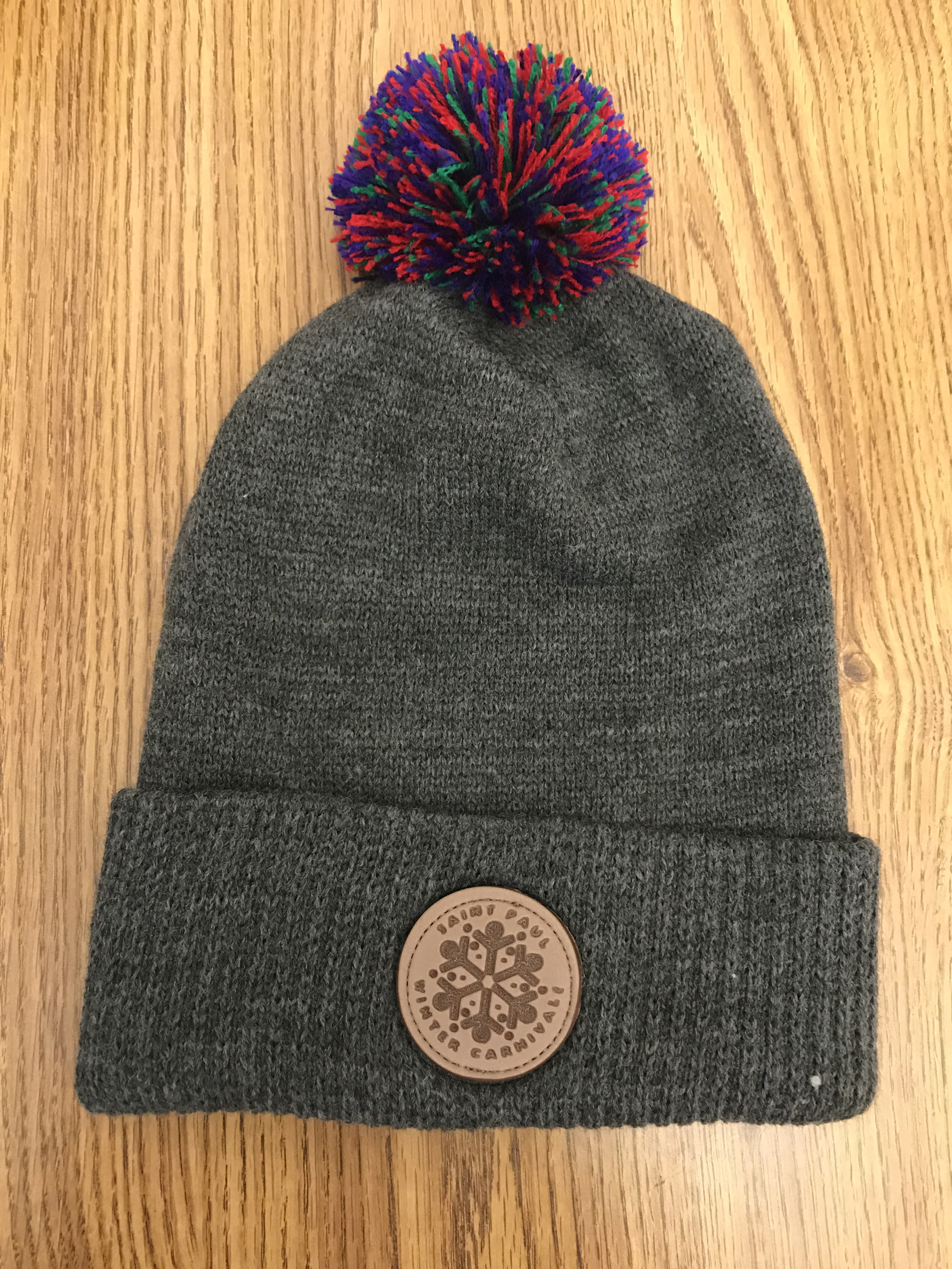 Gray Pom Pom Hat - Saint Paul Winter Carnival a81e6cb58db